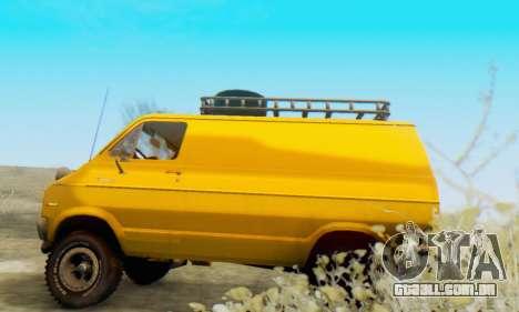 Dodge Tradesman Van 1976 para GTA San Andreas vista traseira