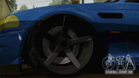 BMW M3 E46 STANCE para GTA San Andreas traseira esquerda vista