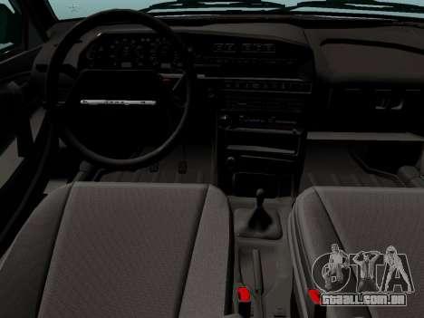 VAZ-21099 para GTA San Andreas traseira esquerda vista
