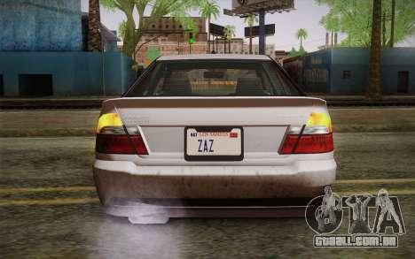 Sultan из GTA 5 para GTA San Andreas vista traseira