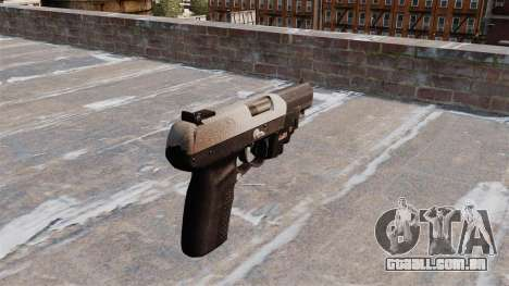 Arma FN Cinco sete LAM Chrome para GTA 4 segundo screenshot