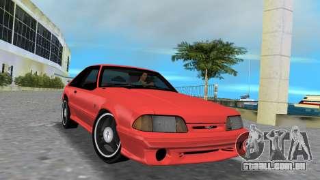 Ford Mustang Cobra 1993 para GTA Vice City deixou vista