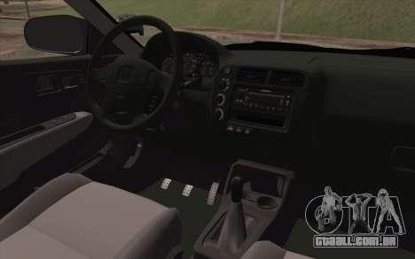 Honda Civic 1999 para GTA San Andreas vista direita