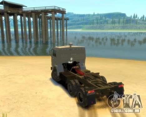 KamAZ-54115 para GTA 4 esquerda vista