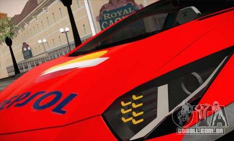 Lamborghini Aventador LP700-4 para GTA San Andreas vista interior