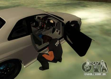Nissan Skyline R34 V-Spec para GTA San Andreas traseira esquerda vista