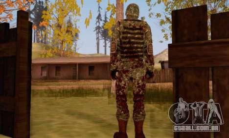 Zombie Soldier para GTA San Andreas segunda tela