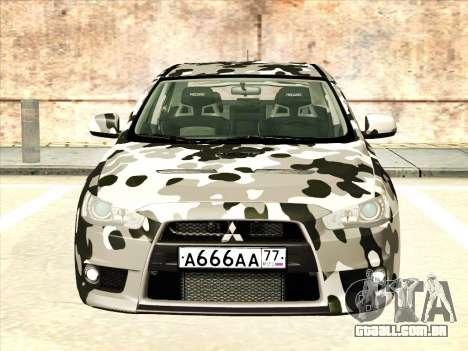 Mitsubishi Lancer Evolution X para as rodas de GTA San Andreas