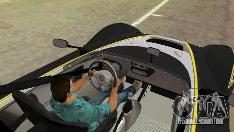 Lotus 2-Eleven para GTA Vice City vista traseira esquerda
