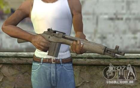M14 из FarCry para GTA San Andreas terceira tela