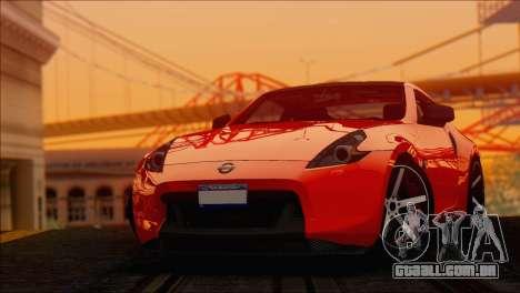 Nissan 370Z Vossen para GTA San Andreas traseira esquerda vista