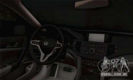 Honda Accord 2010 para GTA San Andreas vista direita