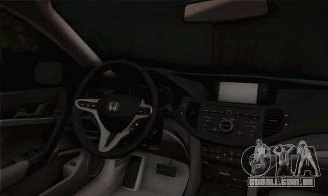 Honda Accord 2010 para GTA San Andreas vista direita