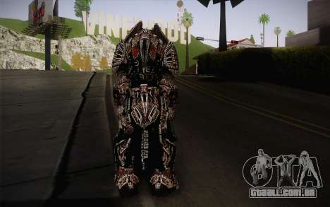 Theron Guard Cloth From Gears of War 3 v2 para GTA San Andreas segunda tela
