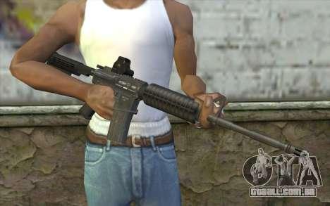 M4A1 Holosight para GTA San Andreas terceira tela