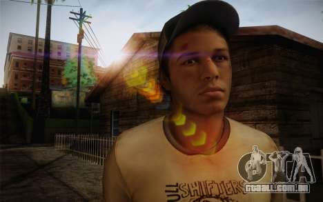 Ellis from Left 4 Dead 2 para GTA San Andreas terceira tela