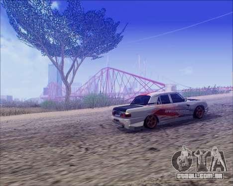 GAZ 31105 Tuneable para GTA San Andreas vista traseira