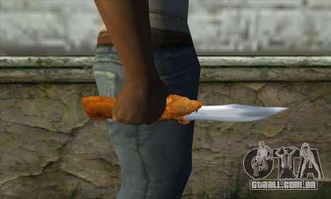 Colecionáveis faca para GTA San Andreas terceira tela