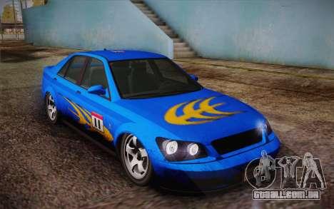 Sultan из GTA 5 para GTA San Andreas interior