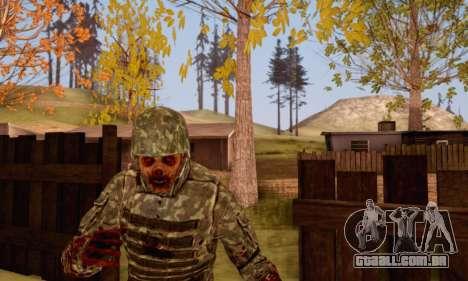 Zombie Soldier para GTA San Andreas quinto tela