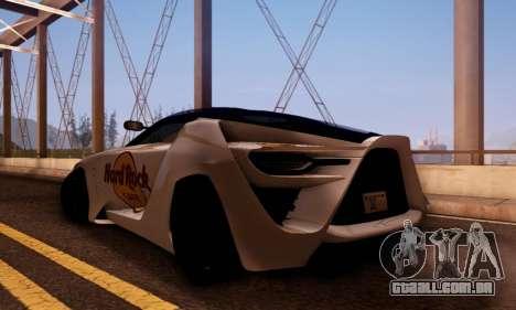 Bertone Mantide 2010 Hard Rock Cafe para GTA San Andreas traseira esquerda vista