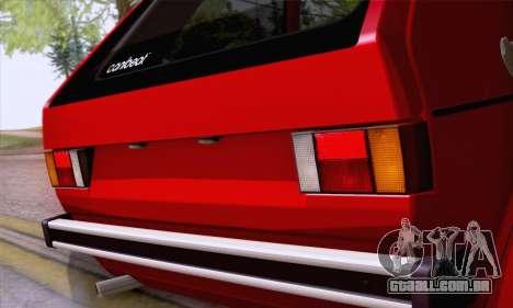 Volkswagen Golf Mk I 1978 para GTA San Andreas vista interior