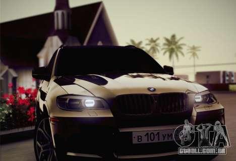 BMW X5M 2013 para GTA San Andreas vista inferior