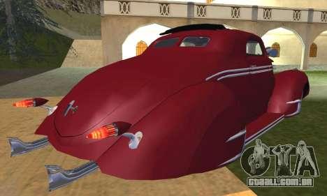 Lincoln Zephyr 1946 para GTA San Andreas vista interior