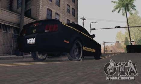 Ford Mustang Shelby Terlingua 2008 NFS Edition para GTA San Andreas vista traseira