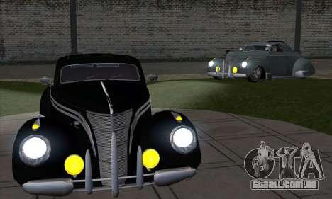 Lincoln Zephyr 1946 para GTA San Andreas vista direita