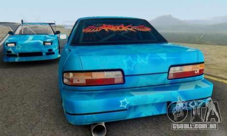 Nissan Silvia S13 Blue Star para GTA San Andreas vista interior
