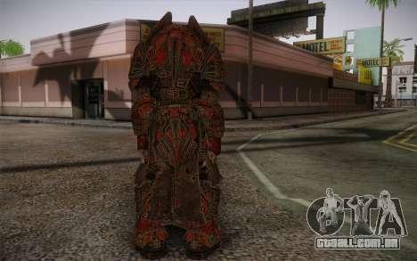 Theron Guard Cloth From Gears of War 3 v1 para GTA San Andreas segunda tela