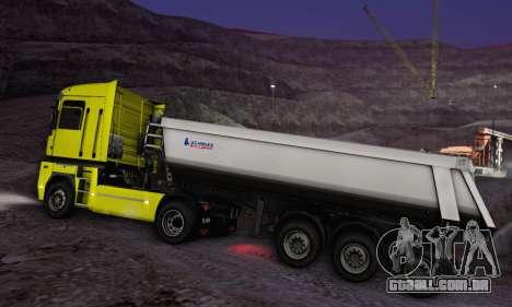 Schmied Bigcargo Solid Stock para GTA San Andreas vista traseira