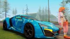 W-Motors Lykan Hypersport 2013 Blue Star para GTA San Andreas