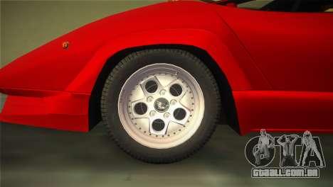 Lamborghini Countach 1988 25th Anniversary para GTA Vice City vista direita