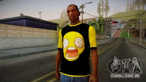 Black & Yellow T-Shirt para GTA San Andreas