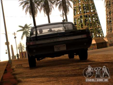 Lime ENB v1.1 para GTA San Andreas por diante tela