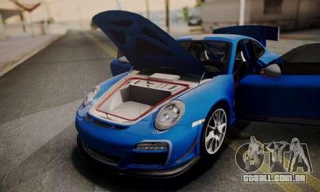 Porsche 911 GT3 RS4.0 2011 para GTA San Andreas vista superior