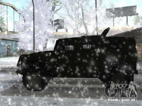 GÁS 2975 Tigre para GTA San Andreas esquerda vista