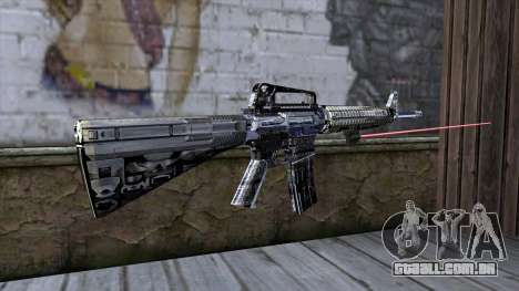 M4A1 com mira a laser para GTA San Andreas segunda tela