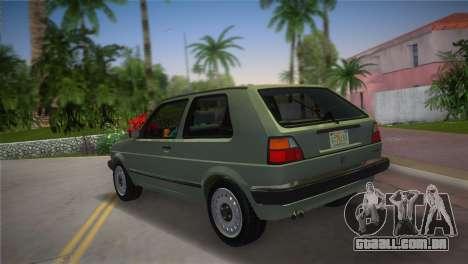 Volkswagen Golf II 1991 para GTA Vice City deixou vista