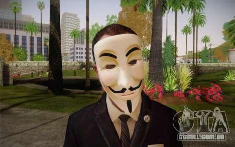 Anonymous Skin para GTA San Andreas terceira tela