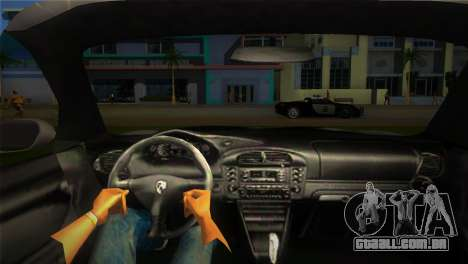 Porsche 911 GT3 Police para GTA Vice City vista traseira esquerda