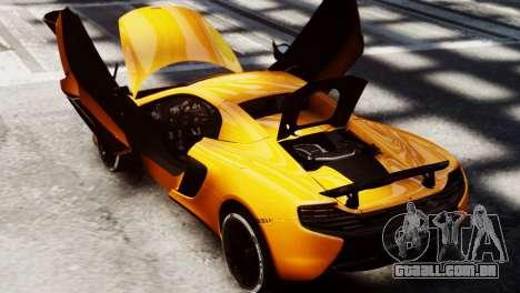 McLaren 650S Spider 2014 para GTA 4 vista direita