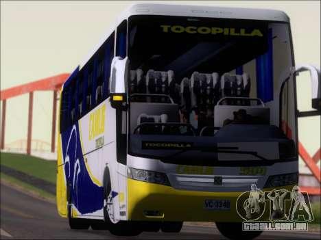 Busscar Vissta Buss LO Mercedes Benz 0-500RS para GTA San Andreas vista superior