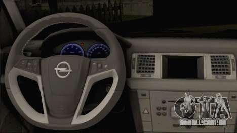 Opel Vectra C para GTA San Andreas traseira esquerda vista