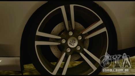 Porsche Panamera GTS para GTA San Andreas traseira esquerda vista
