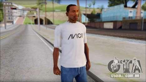 Avicii Fan T-Shirt para GTA San Andreas