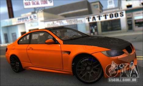 BMW M3 E92 Soft Tuning para GTA San Andreas traseira esquerda vista