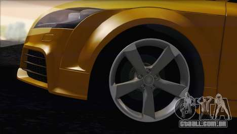 Audi TT RS v2 2011 para GTA San Andreas traseira esquerda vista